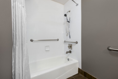 Hotel 1550 - Guest Bathroom with Grab Bars